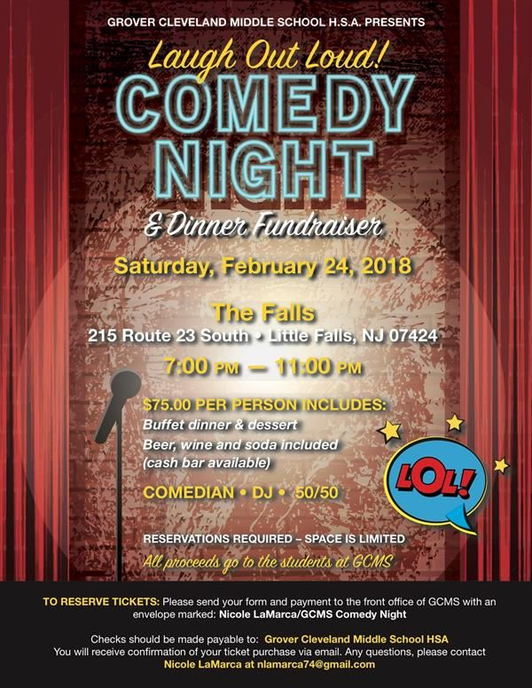 GCMS Comedy and Dinner Night Fundraiser