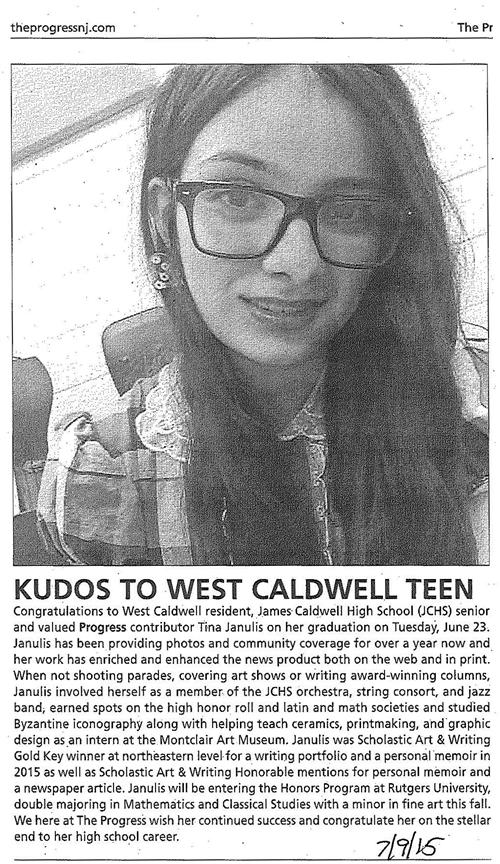 Kudos to West Caldwell Teen