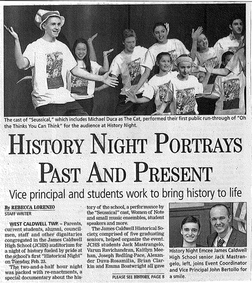 History Night Portrays Past And Present