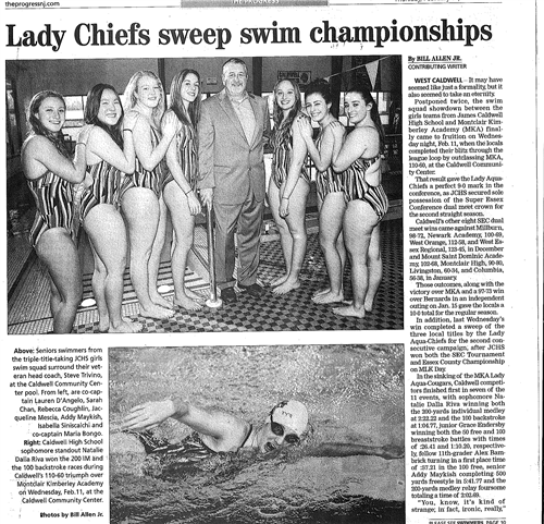 Lady Chiefs Swim Titles