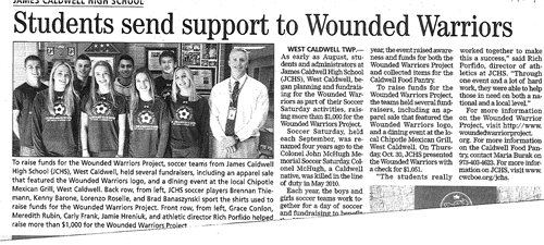 Students Support Wounded Warriors