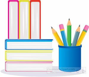 books and pencils