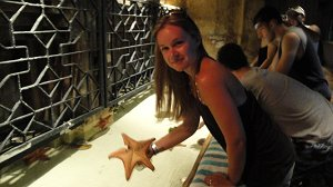 Mrs. Anderson with starfish